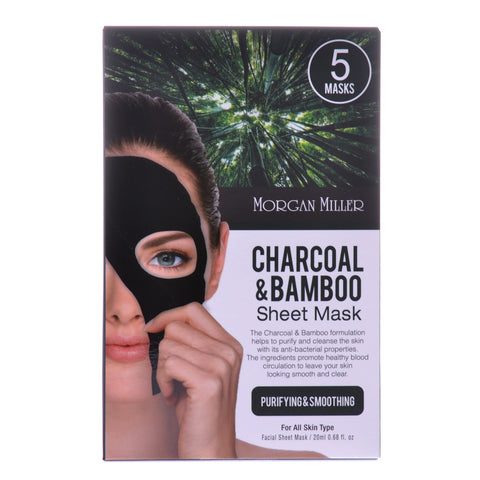 Charcoal & Bamboo Sheet Mask, 5 Masks