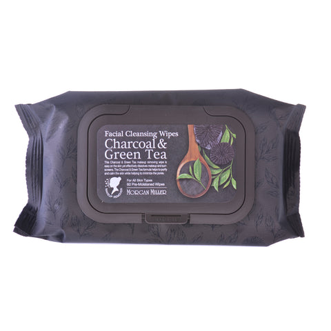 Cleansing Wipes Charcoal & Green Tea, 60 ct