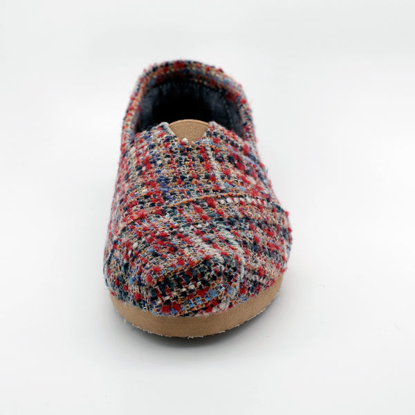 TOMS RED BOUCLE WOMEN'S CLASSICS