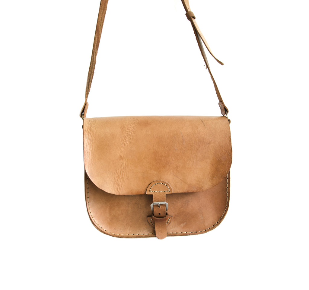 SADDLE BAG BIG camel