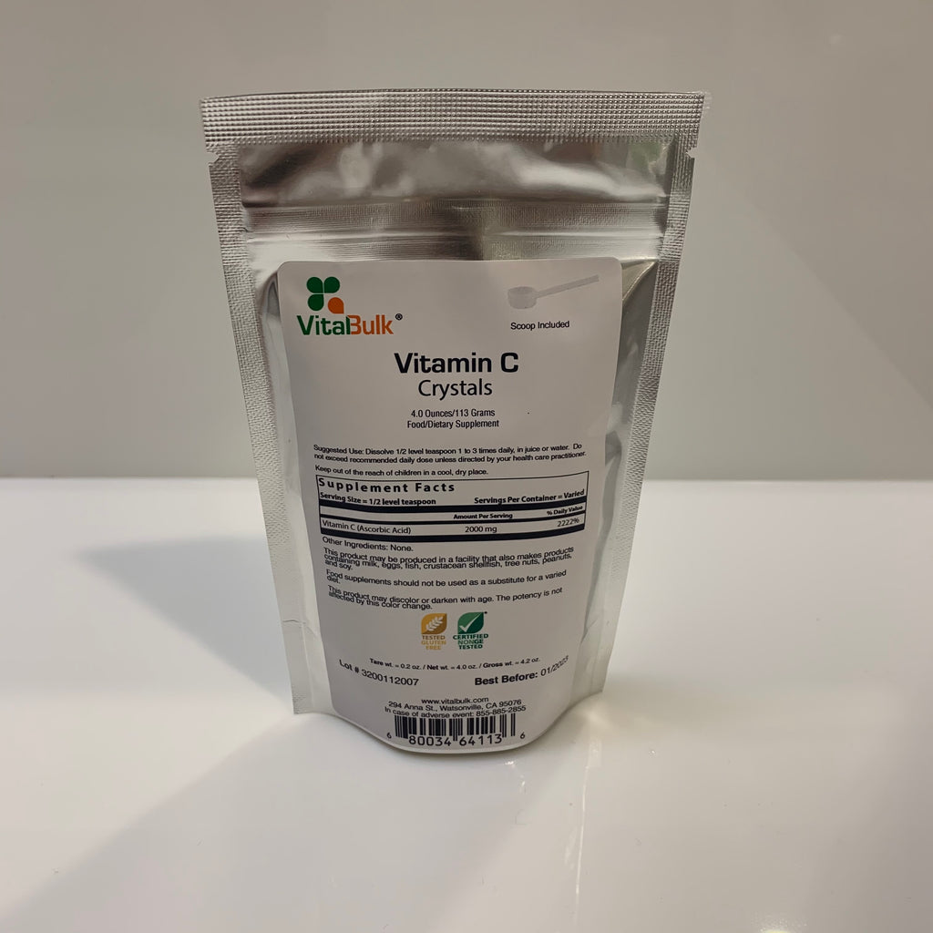 Vitamin C Crystals - 4 oz Bag