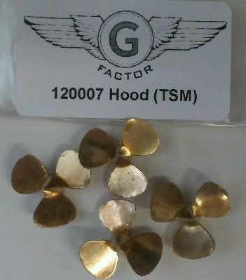 GFM-120007 1/200 HMS Hood Brass Propellers for TSM (4)
