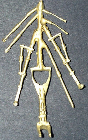 GFM-32005 1/32 Mirage III/KFIR Brass Landing Gear for RVL