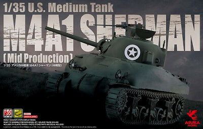 ASU-35010 1/35 M4A1 Sherman Middle Production
