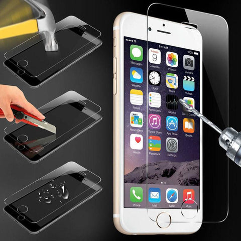 Protection face avant iPhone haute résistance pour iPhone  4, 5, 6, 6+, 7, 7+ - Super-Prix.fr