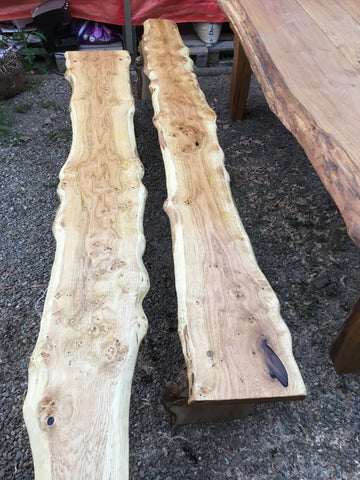 Scottish oak garden bench