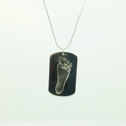 Solid Silver Dog Tag