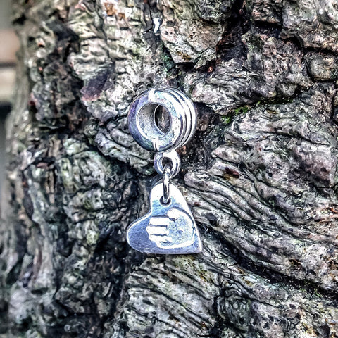 Solid Silver Slider Hanging Charm