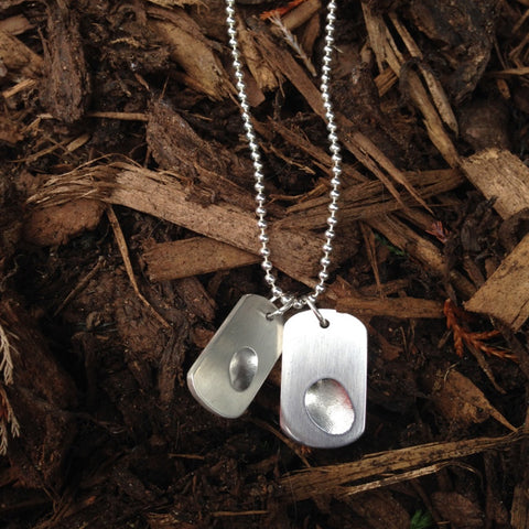 Double Solid Silver Dog Tags (large and small)