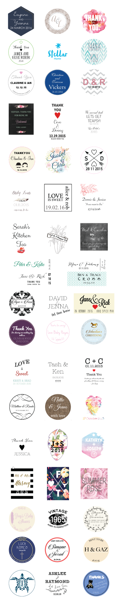 Custom Favours Design Examples