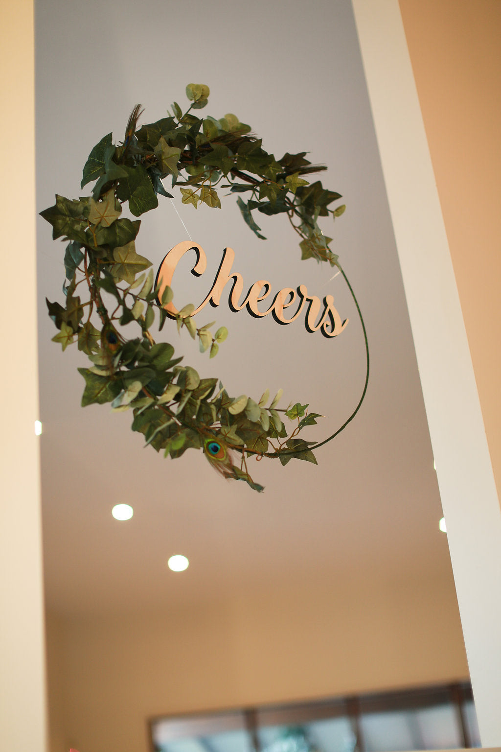 Wooden lasercut sign for wedding and kids