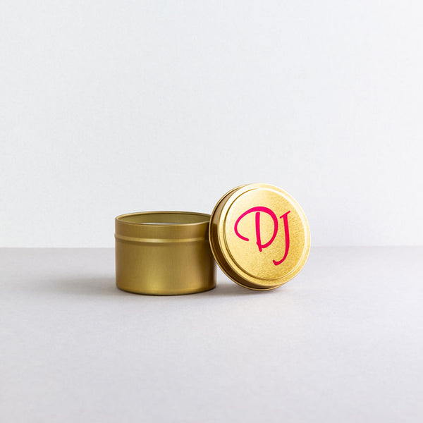 Gold Tin Candle 4oz