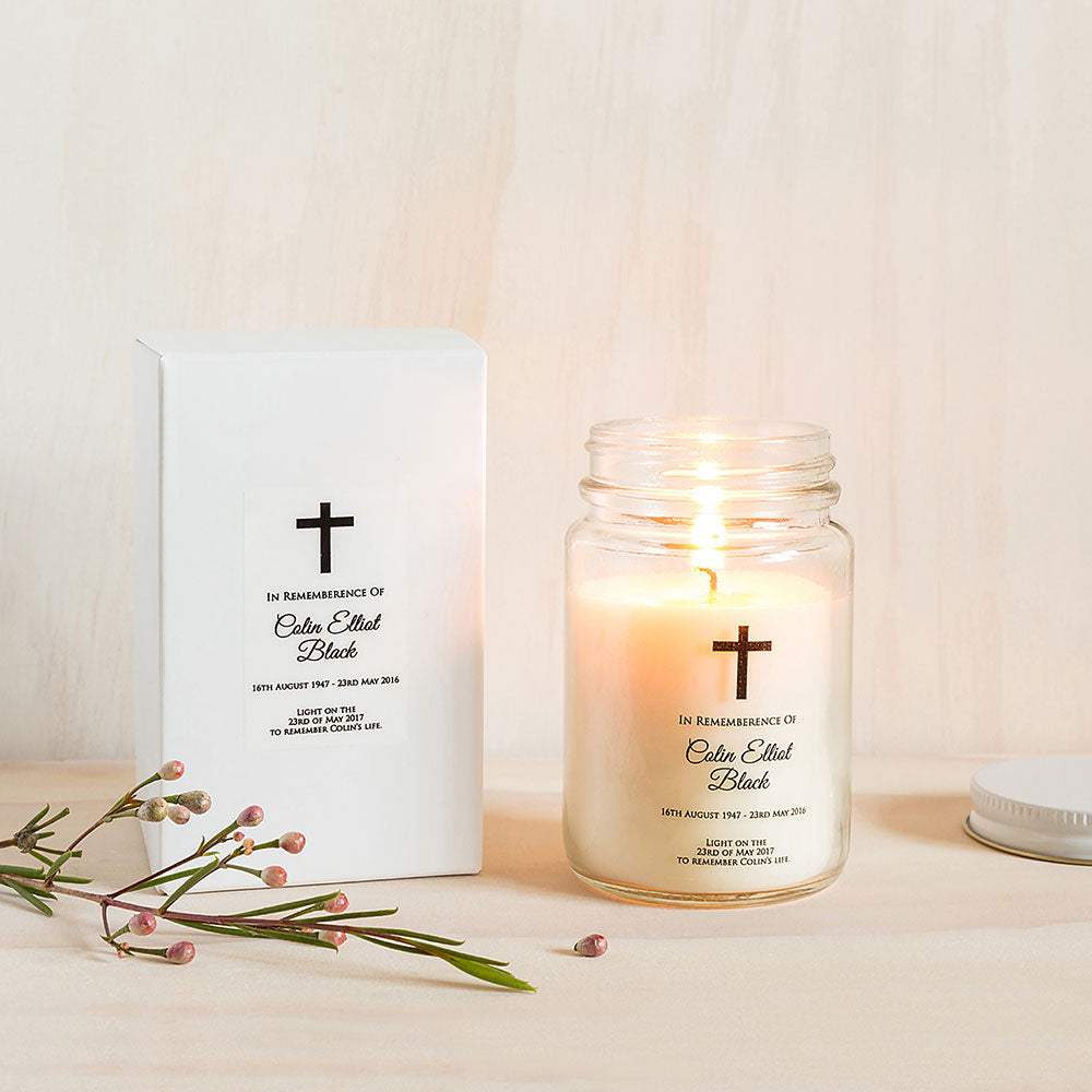 Remembrance & Funeral Candle - Custom Favours