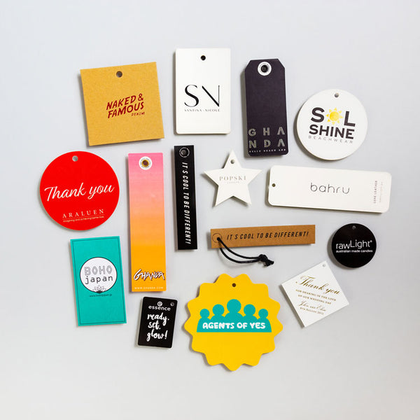 Product Hang Tags, Clothing Tags, Corporate Swing Tags