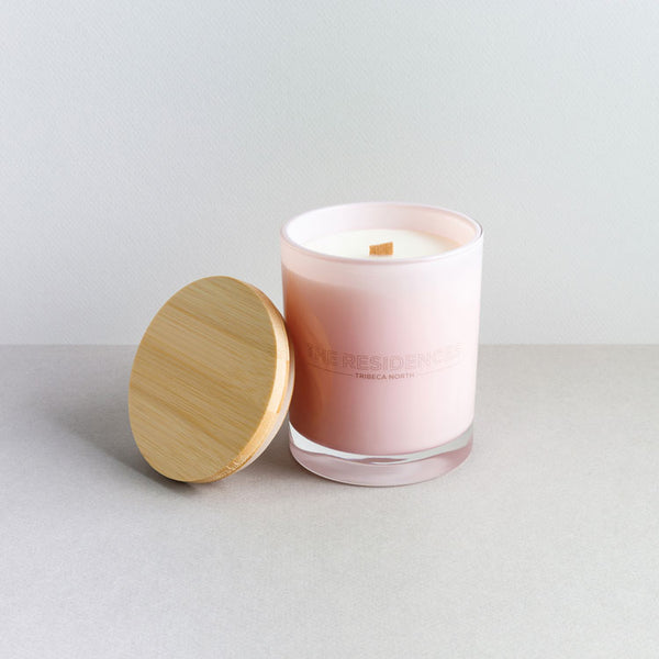Coloured Glass Corporate Candle - Wholesale