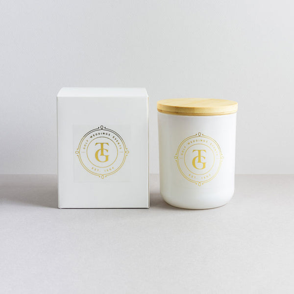 Promotional Soy Candle - Foil Labels, Wooden Lid