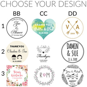 Custom Sticker, Adhesive Label, Wedding Decal