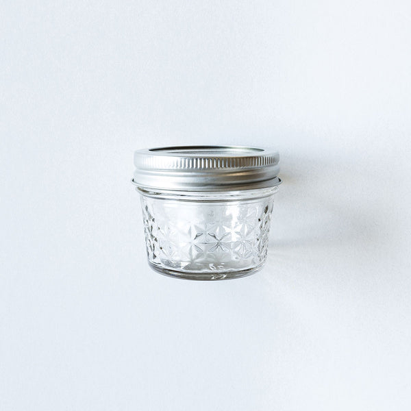 Empty Quilted Mason Jar