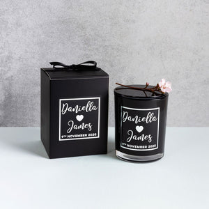 Boxed Luxury Foil Candle Black Edition