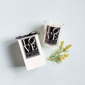 Luxury Boxed Votive Candle Wedding Favour - Personalised