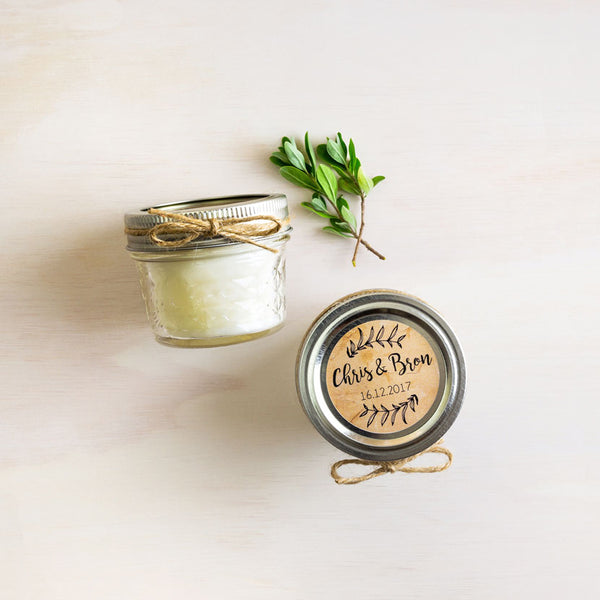 Mason Soy Candle Guest Gift