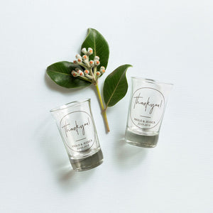 Shot Glass Wedding Favour - Guest Gift