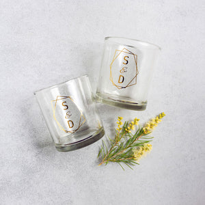 Foil Drinking Glass - Tumbler Wedding Favour