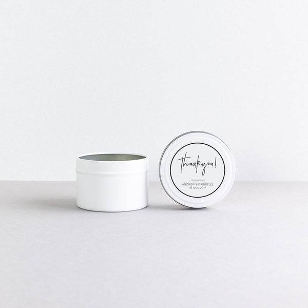 Matte White Tin Candle