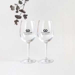 Printed Wine Glass - Wedding, Corporate or Event.