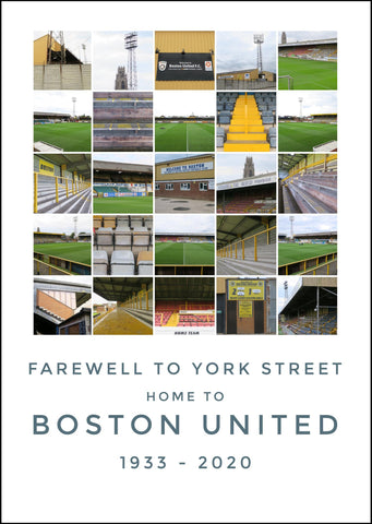 Boston United - Farewell to York Street.