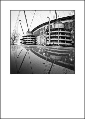 Manchester City - The Etihad (e1bw)