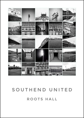 Southend United - Roots Hall Black and white montage