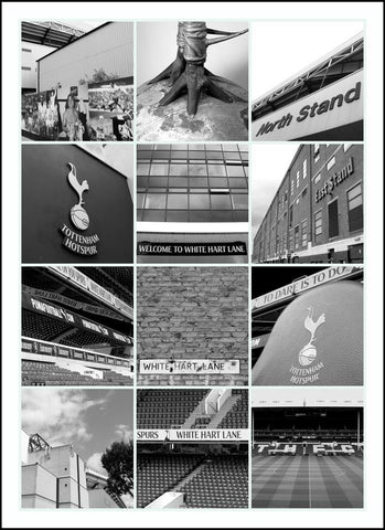 Tottenham Hotspur - White Hart Lane in Black and White