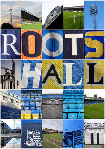 Southend United - Roots Hall shirt montage