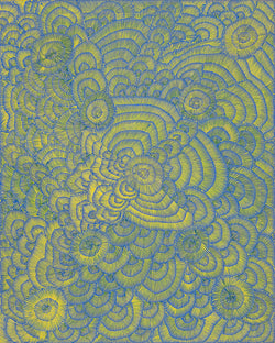 Lily Sandover Kngwarreye, Painting 00H028, 2000, 120cm x 150cm - Delmore Gallery
