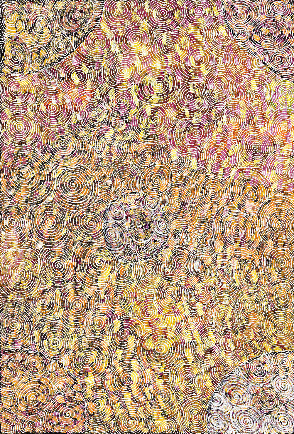 Lucky Kngwarreye, Painting 09K116, 2009, 62x90cm - Delmore Gallery