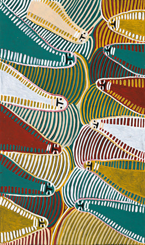 Angeline Ngale (Kngale), Painting 10K035, 2010, 90cm x 150cm - Delmore Gallery