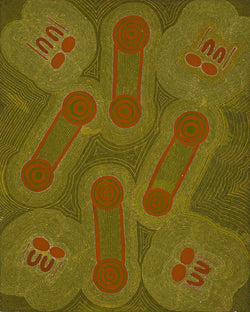 Joy Kngwarreye Jones, Painting 91L10, 1991, 60cm x 75cm - Delmore Gallery