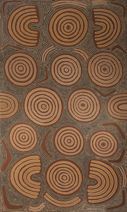 Aboriginal Art Painting 92I038, Cowboy Louie Pwerle, 1992