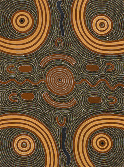 Aboriginal Art Painting 94D024, Cowboy Louie Pwerle, 1994