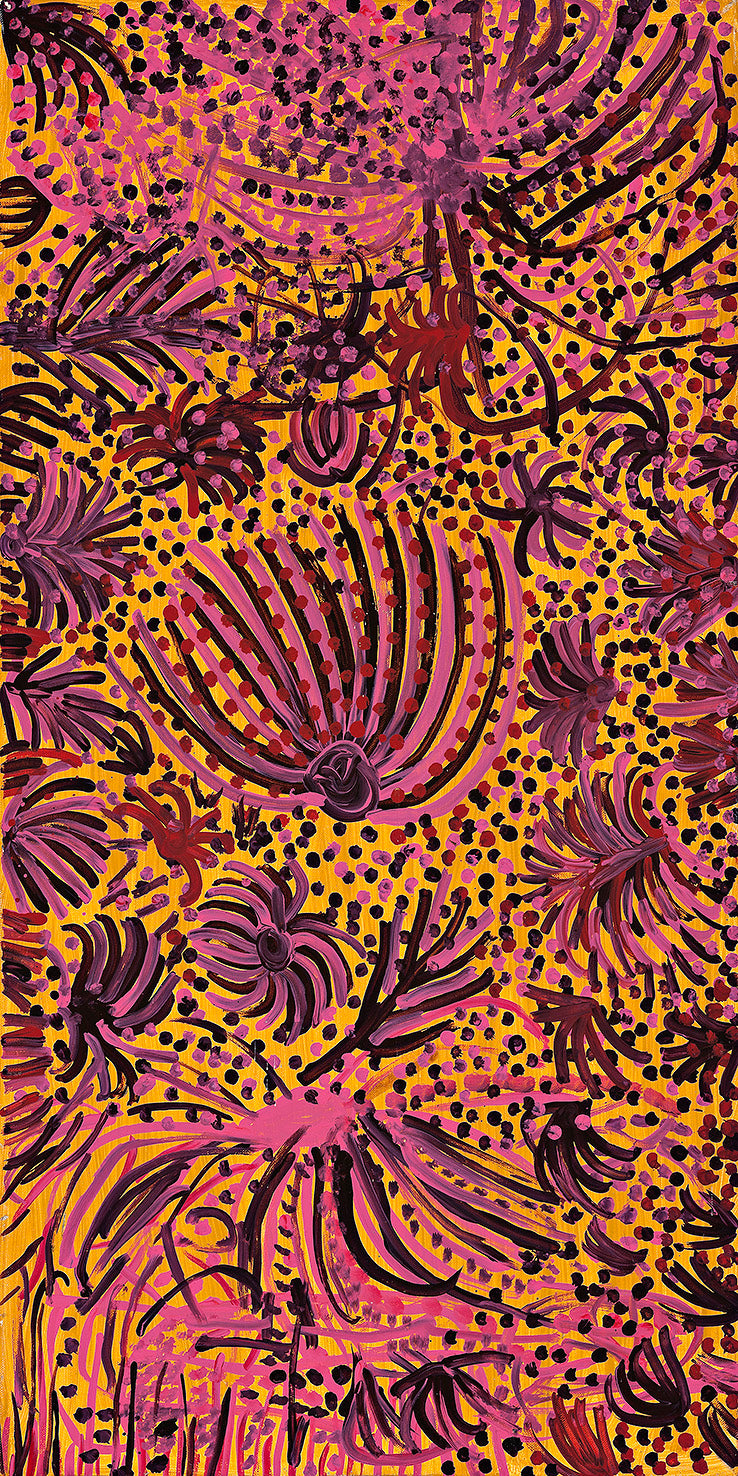 Emily Kame Kngwarreye, Painting 94H125, 1994, 60x125cm - Delmore Gallery