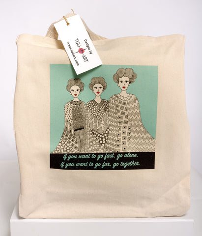 Tote Bag-Three Sisters