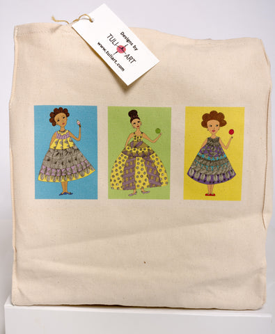 Tote Bag-Three Girls