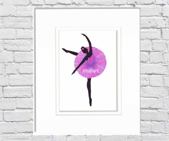 Ballerina Art Illustration - Anele