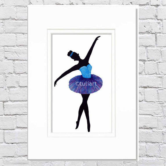 Ballerina Art Illustration - Arona