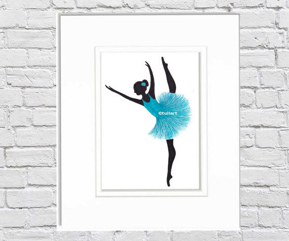 Ballerina Art Illustration - Miley