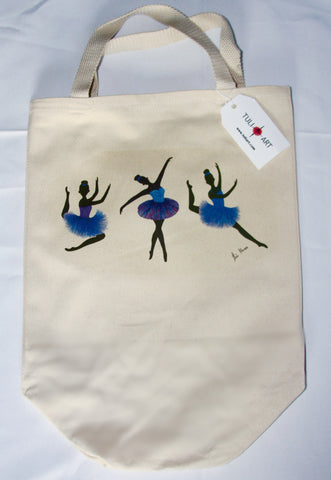 Tote Bag-Blue Ballerinas
