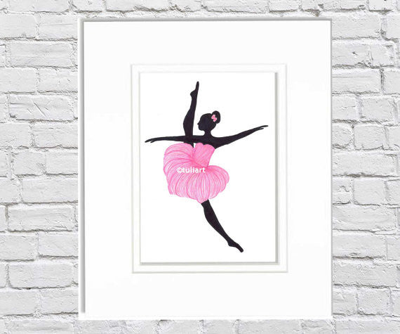 Ballerina Art Illustration - Joy