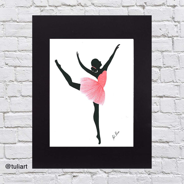 Ballerina Art Illustration - Corrine