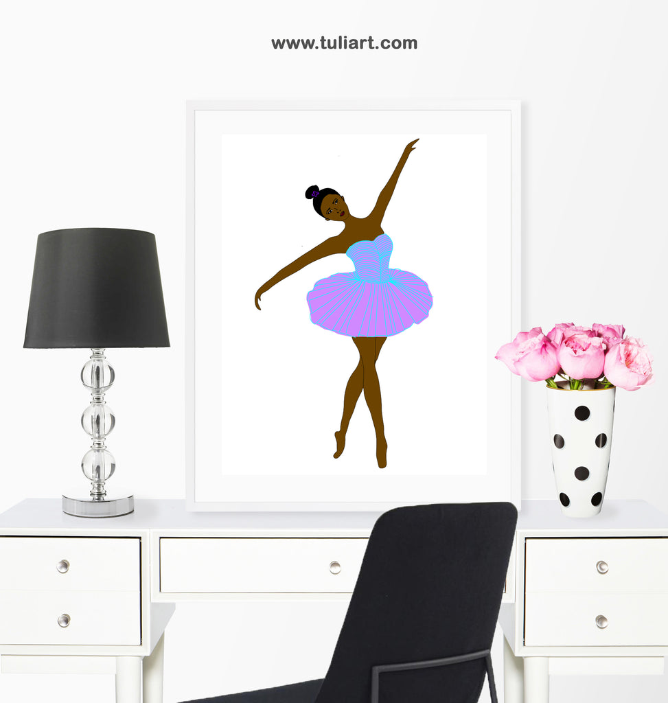 Ballerina Art Illustration- Ayanna